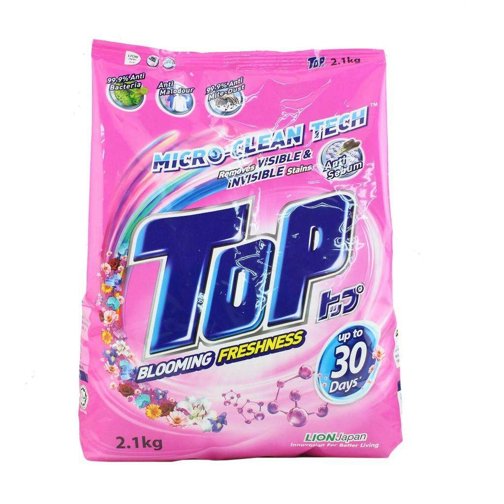 TOP POWDER DETERGENT LAUNDRY SUPER BLOOMING FRESHNESS 2.1KG READY STOCK