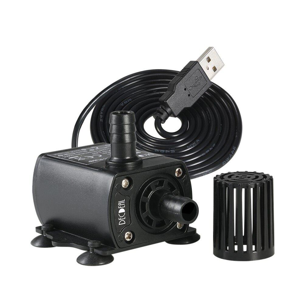 Outdoor & Garden - Decdeal ULTRA-quiet MINI USB DC5V 4.8W 300L/H Lift 300cm Brushless Water Pump Wa - #