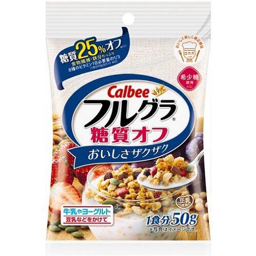Ready stock 正品 ORIGINAL calbee cereal Fruit Granola Sugar Off (frugura)50g 日本正品营养水果干 2935