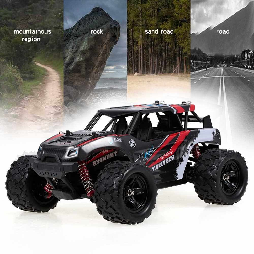 HS18311 1/18 4WD 36KM/H High Speed RC Car 2.4Ghz Off Road RC Truck Cross-country Car for Adults and Kids (Red)