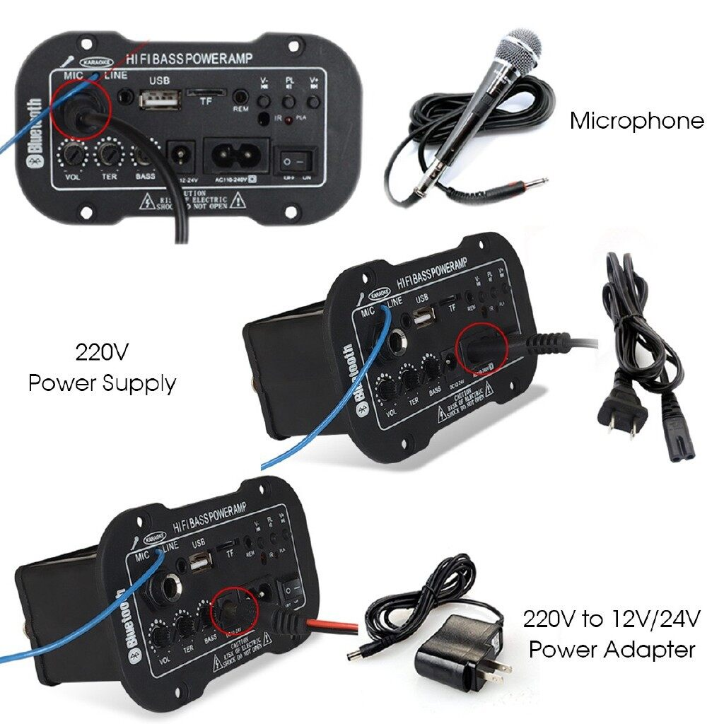 Organizers - Fit for all vehicle Amplifier Car Auto Subwoofer High Power Hi-Fi Bass AMP Board With Remote - Car Accessories