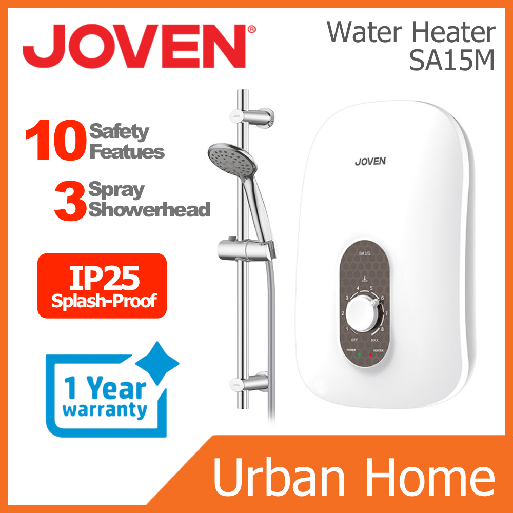 JOVEN Non-Pump Instant Water Heater Home Shower (SA15M)