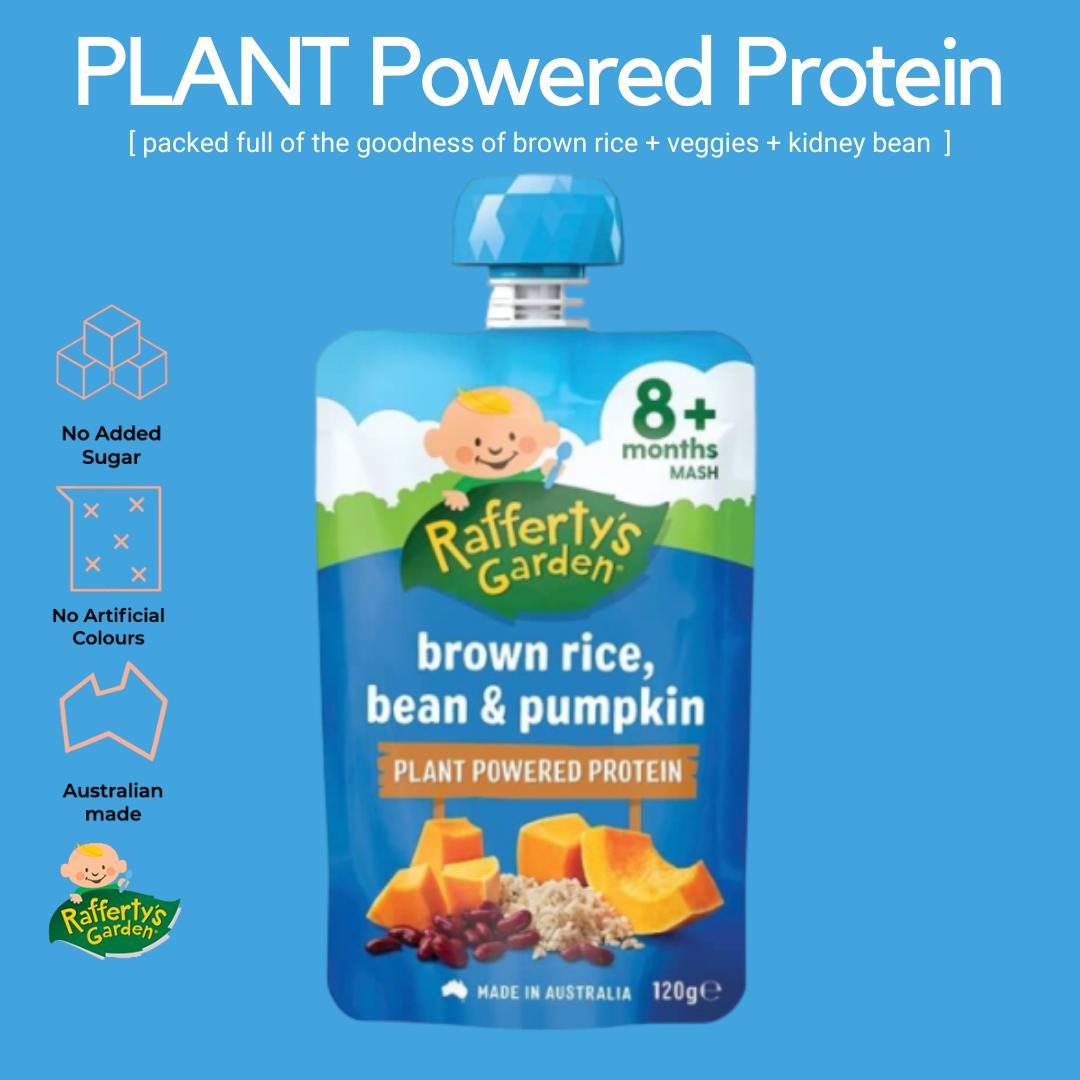 Rafferty's Garden Brown Rice, Bean & Pumpkin Baby Puree 8+m [Exp Date: Nov 2021]