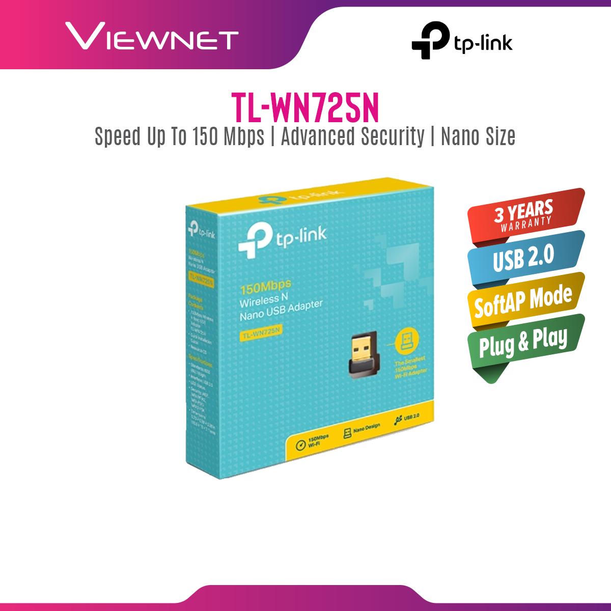 TP LINK 150MBPS WIRELESS N NANO USB ADAPTER TL-WN725N (USB 2.0)