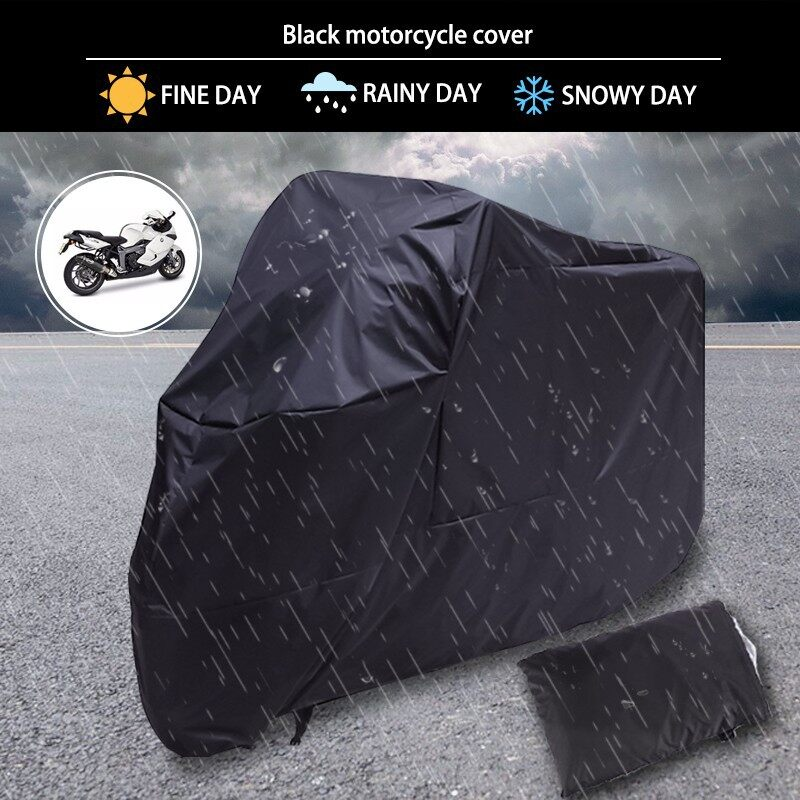 Moto Accessories - XXXL Black Motorcycle Cover Waterproof Dust For Harley Davidson Street Touring - Motorcycles, Parts