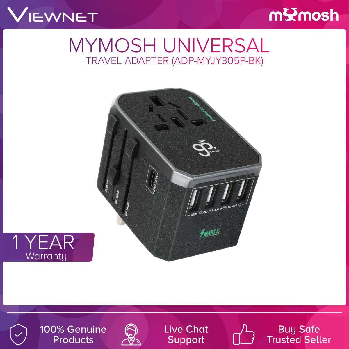 Mymosh Adapter Ac Universal 1-Type-C + 4-Usb 5.6A (ADP-MYJY305P-BK) BLK