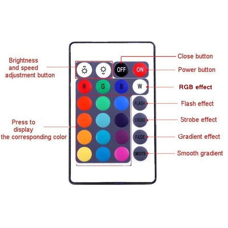 USB Light - 10M 600LEDS 3528 SMD RGB 2X5M LED strip light + 44 Key IR Remote Controller - Cool Gadgets
