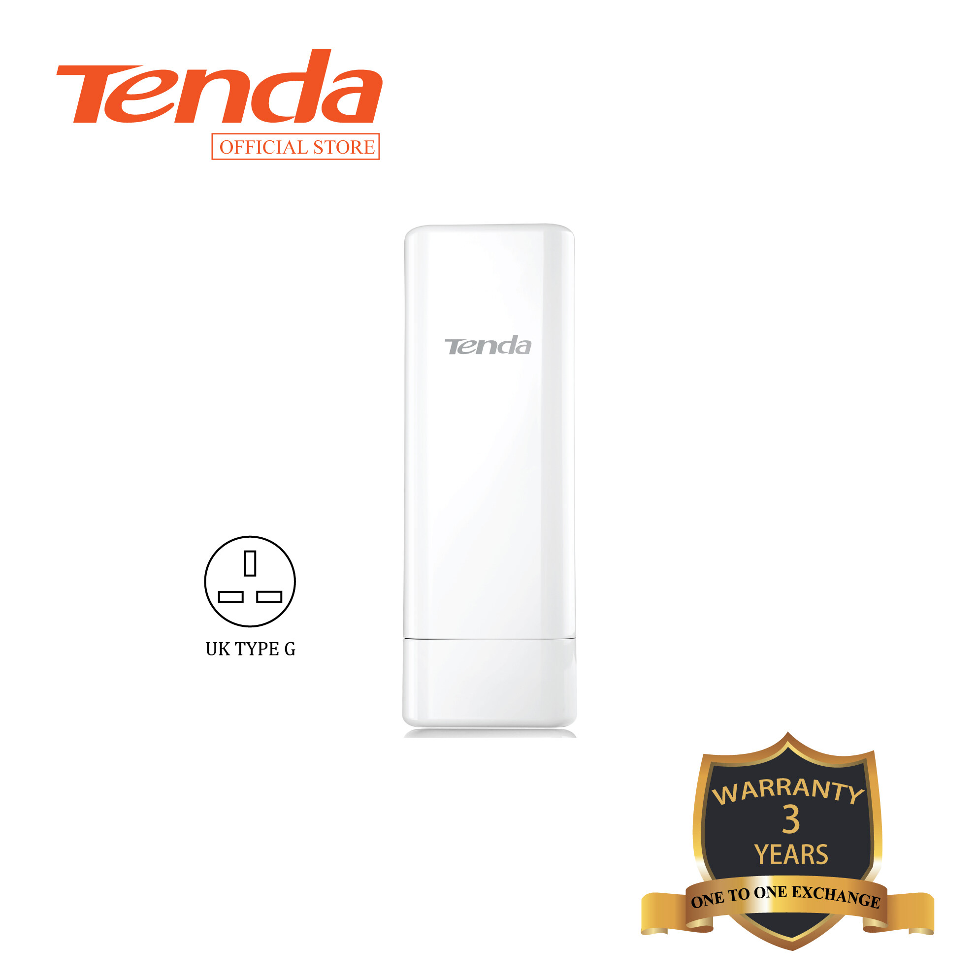 Tenda O4 Wireless 5km Point to Point Outdoor CPE WiFi Bridge- Auto Bridging - 6KV- Data Signal Transmission-CCTV Solution