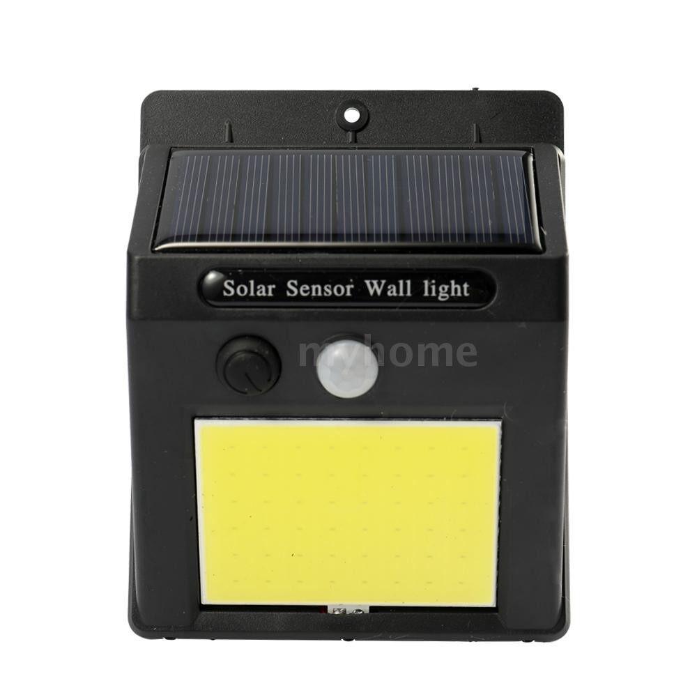 Outdoor Lighting - COB Solar Power Sensor Wall Light Outdoor Waterproof Energy Saving Street Yard Path Home Garden