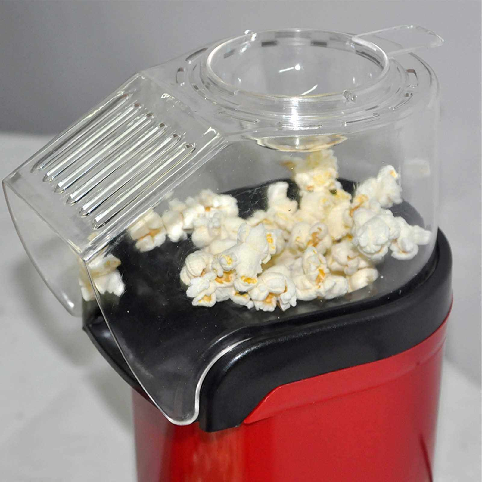 Best Selling 1200W Popcorn Popper Popcorn Maker Electric Popcorn Machine No Oil Needed for Home Family Kids (Red)