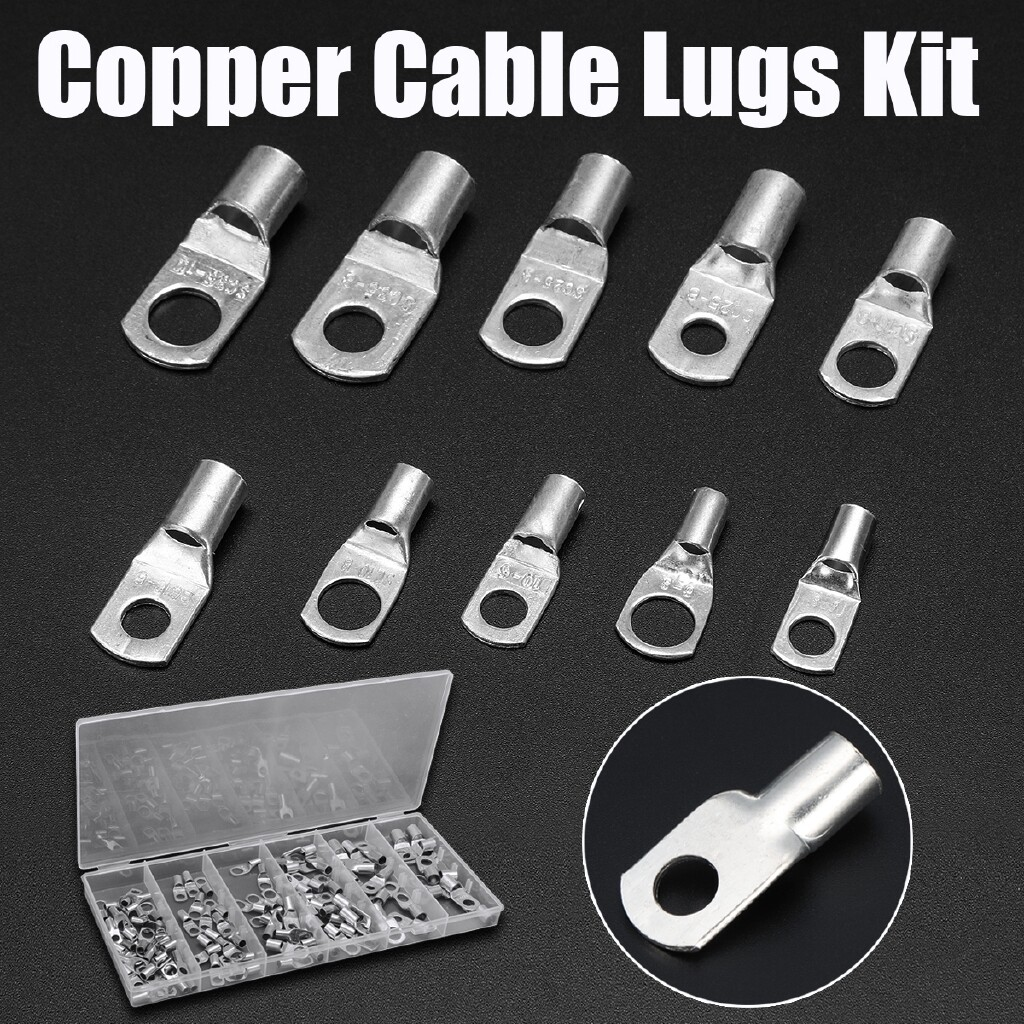 Moto Spare Parts - 100 PIECE(s) 6mm-35mm Copper Cable Lugs Terminals SC Kit Welding Battery Marine Wire - Motorcycles, & Accessories