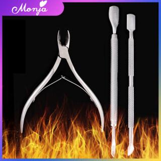 Bộ 3 dụng cụ làm móng làm bằng thép không gỉ gồm kềm cắt móng+ đồ dũa móng+ dụng cụ lấy khóe loại bỏ da chết - INTL thumbnail