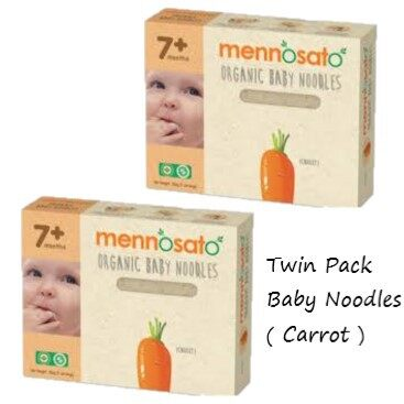Twin Pack !! Mennosato Organic Carrot Baby Noodle (200G)
