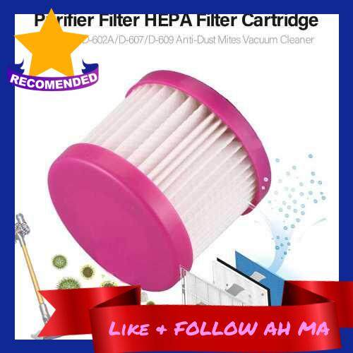Best Selling Purifier Filter HEPA Filter Cartridge for D-602/D-602A/D-607/D-609 Anti-Dust Mites Vacuum Cleaner (Standard)