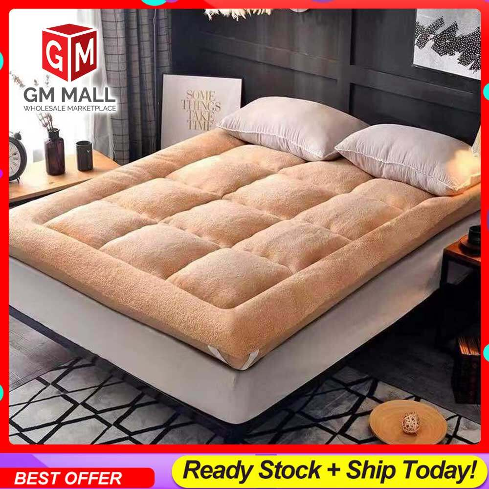 EXCLUSIVE HIGH QUALITY Queen/King Size KHAKI Tatami Solid Bed Mattress Topper Tilam Protector Bedding - Tilam Gebu Lembut BERKUALITI TINGGI (BT-KHAKI)