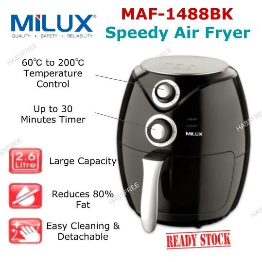 Milux Speedy Air Fryer MAF-1488  MAF-1488BK MAF1488