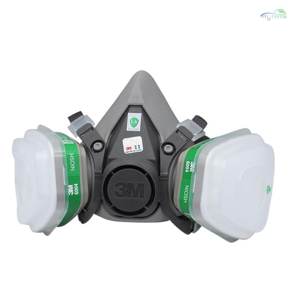 Protective Clothing & Equipment - 3M 6200 Half Face Gas Mask Respirator with 2 PIECE(s) Multi Acid Gas & Organic Vapor Filter Cartridge - 06 / 04 / 03 / 02 / 01