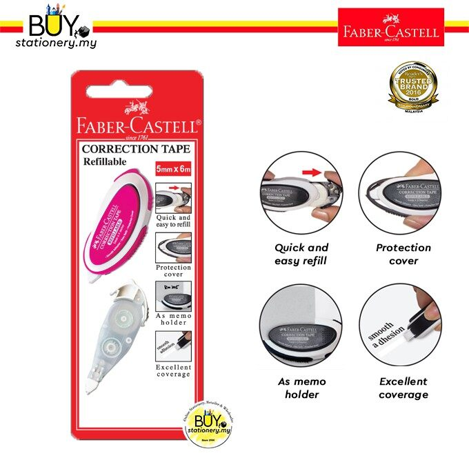 Faber Castell Correction Tape + Refill- (CARD)