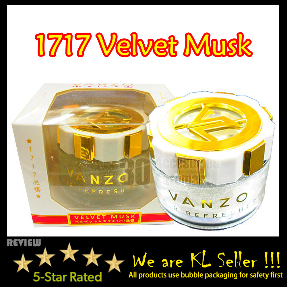 Vanzo 1717 Car Perfume Velvet Musk Car Vehicle Air Refresheners Perfume 65ML