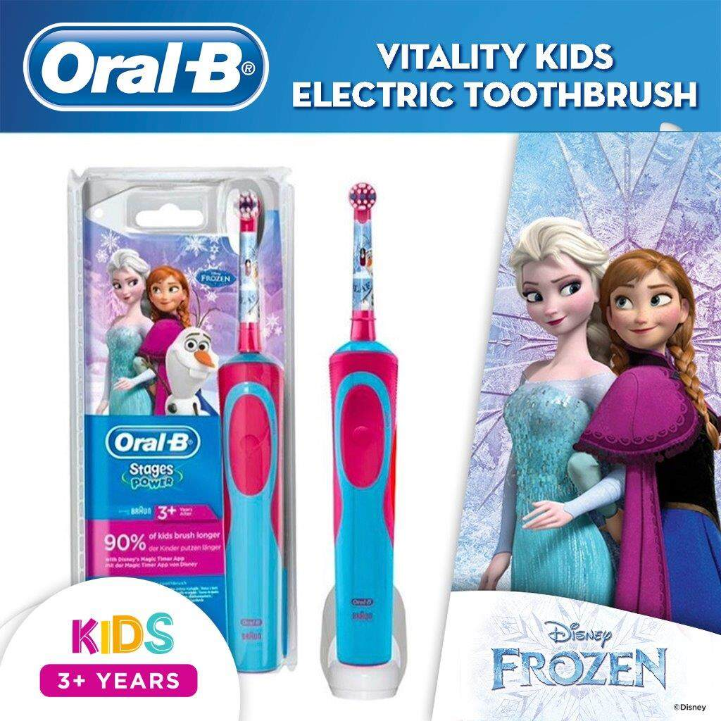 Oral-B Kids Frozen Rechargeable Electric Toothbrush Powered by Braun