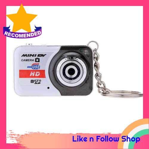 X6 Portable Ultra Mini HD High Denifition Digital Camera Mini DV Support 32GB TF Card with Mic (White)