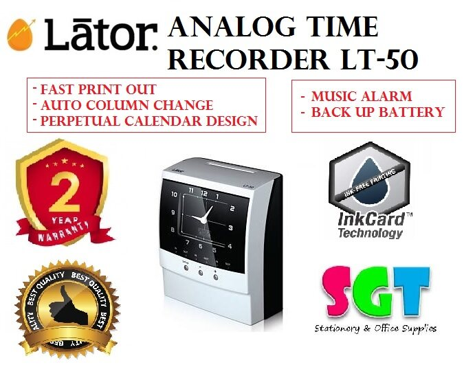 LATOR Analog Time Recorder (LT-50)