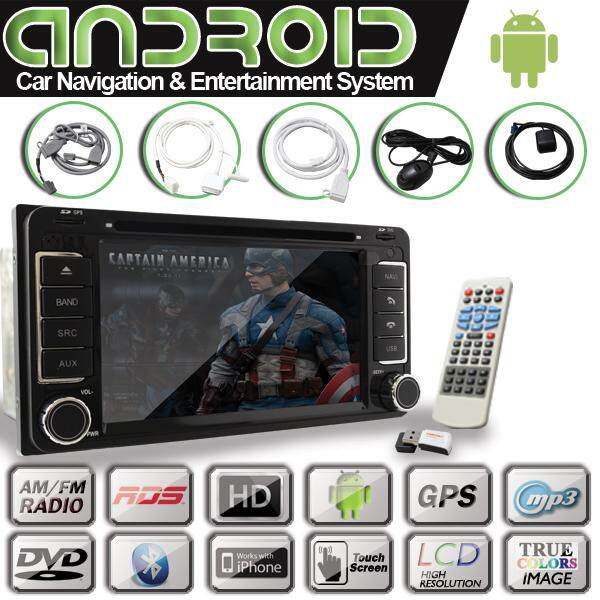 ANDROID I702 TOYOTA 6.2 Touch Screen Monitor IPHONE BLUETOOTH DVD Car Player