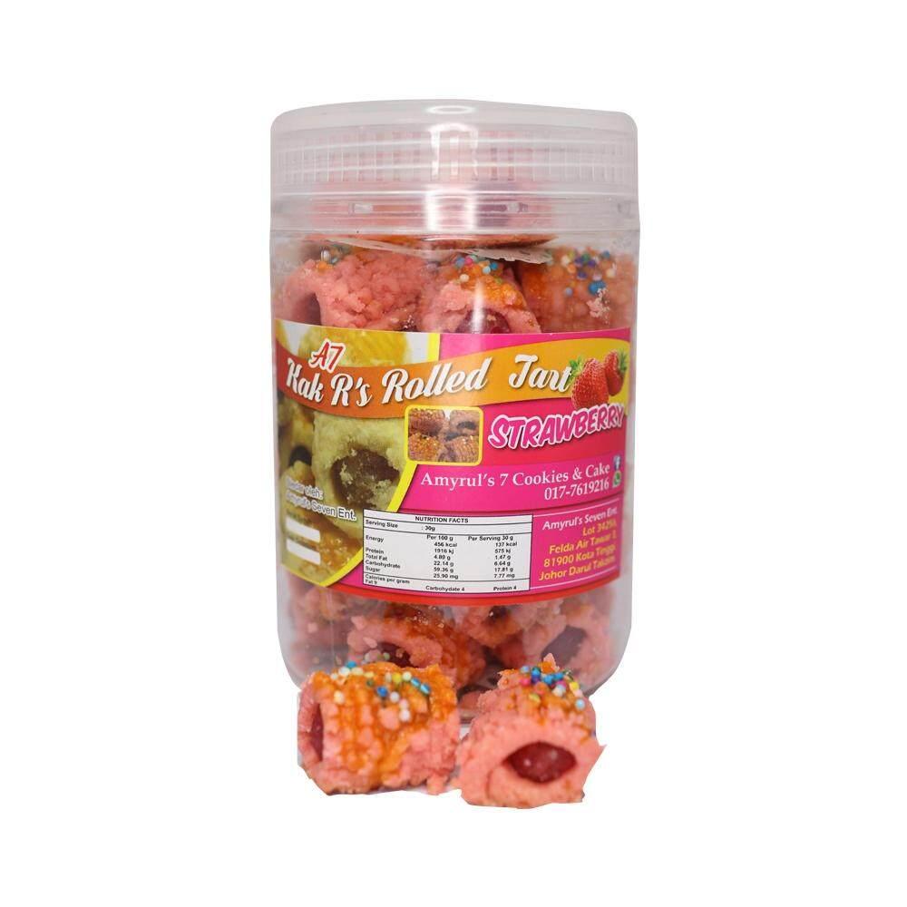 AMIRUL TUJUH - Rolled Tart - -Tart Gulung Strawberry - (30pieces)
