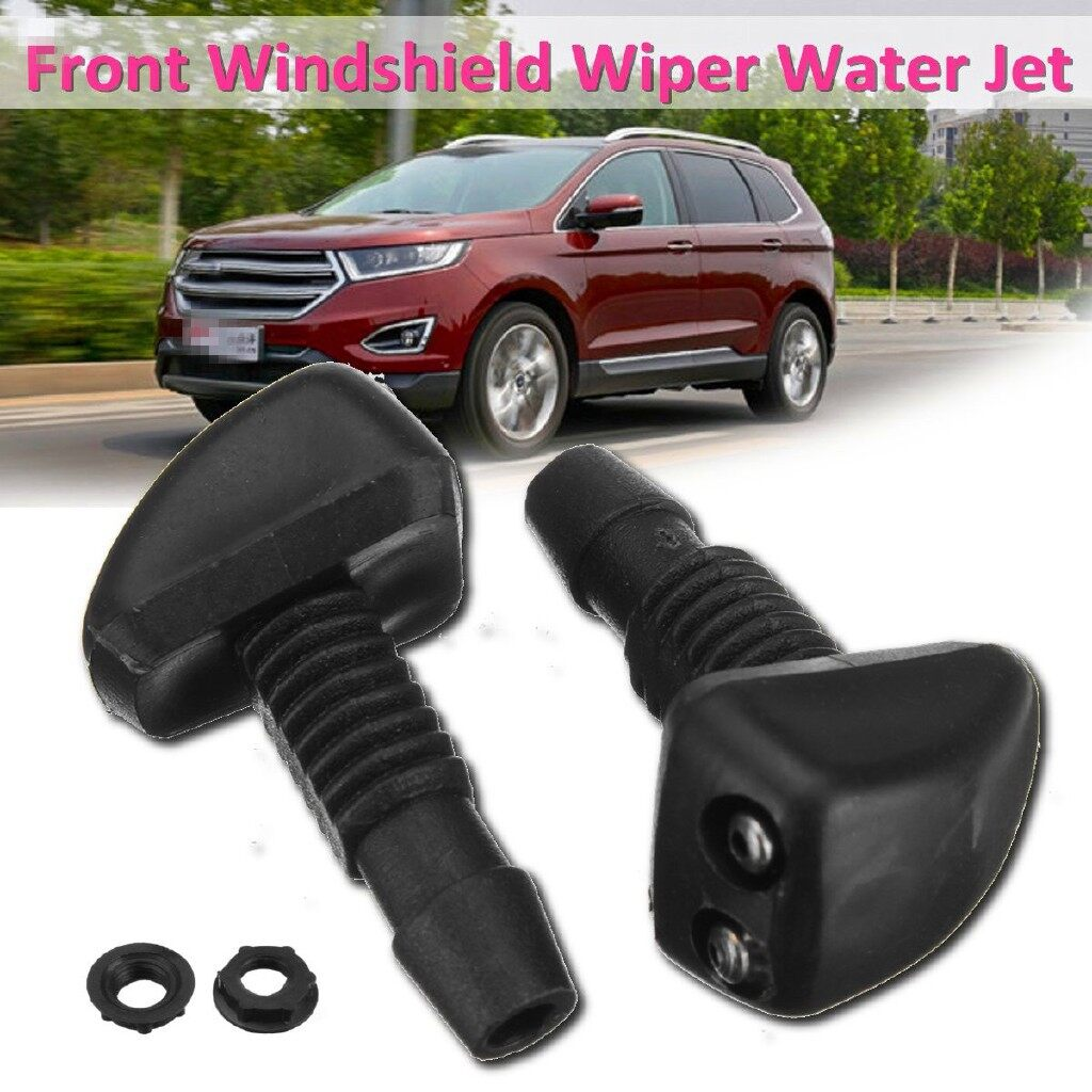 Windscreen Wipers & Windows - 2 PIECE(s) Front Windshield Wiper Washer Sprayer Nozzle Black Universal Car - Car Replacement Parts