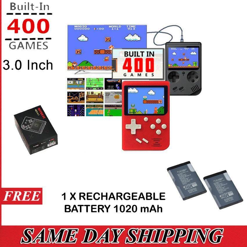 Retro FC Mini Pocket Game Console Built in 400 Games (Local Seller)