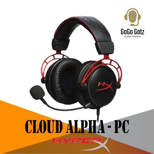 {HX-HSCA-RD/AS}{Ship Out Within 24 Hours} HyperX Cloud Alpha Pro Gaming Headset with Noise cancellation Microphone - PC
