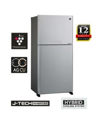 Sharp 2 Door Fridge/Refrigerator 610L No Frost Inverter 12 Years Motor Warranty SJP60MFM-K/S BLACK/SILVER