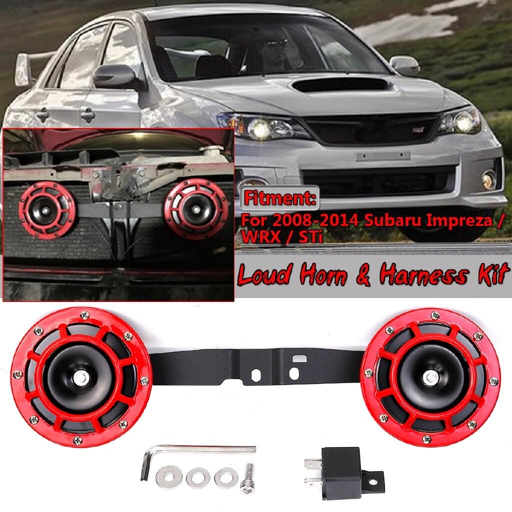 Automotive Tools & Equipment - Super Tone 12V Dual Horn SET + Bracket For 2008-2014 Subaru Impreza WRX / STI - Car Replacement Parts