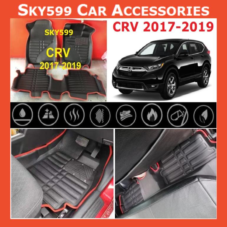Honda CRV 2017-2020 Fit 5D Car Floor Mat/Carpet