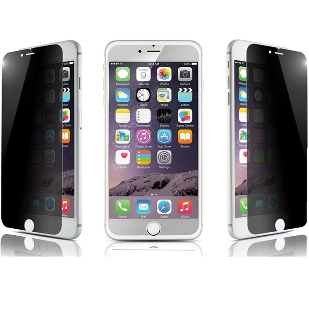 Clear - Privacy Anti-Spy Tempered Glass Screen Protector Film For Apple iPh 6 4 - Screen Protectors