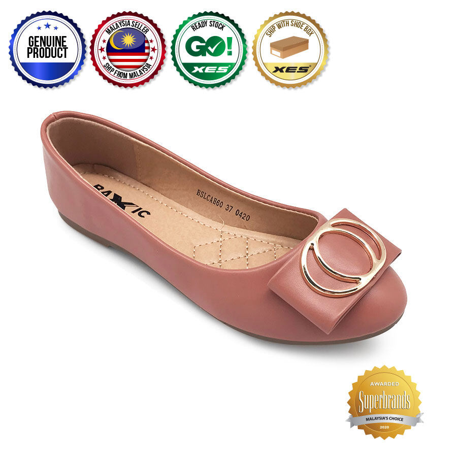 XES Ladies BSLCAH60 Ring Slip-On Flats (Blue Pink)