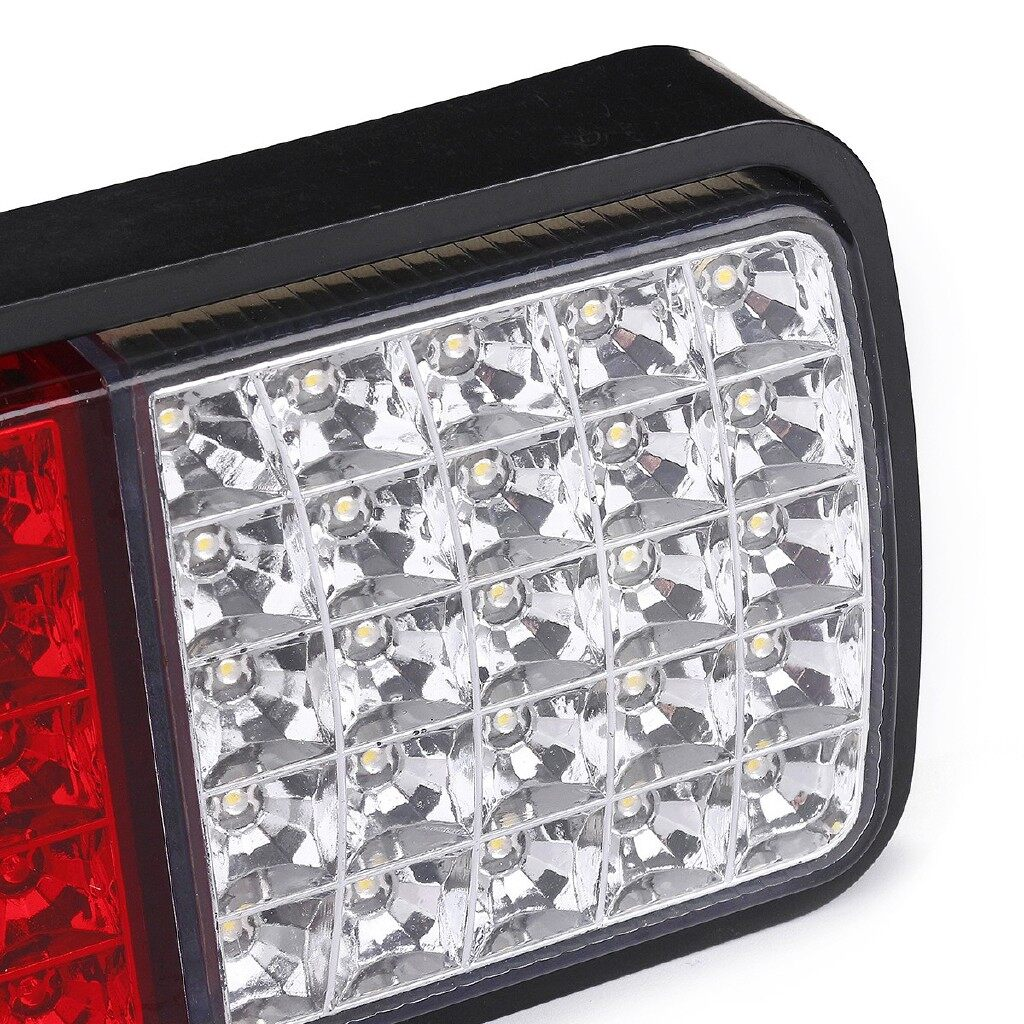 Car Lights - 75LED 12V Rear Tail Light Brake Reverse Indicator Lamp - Replacement Parts