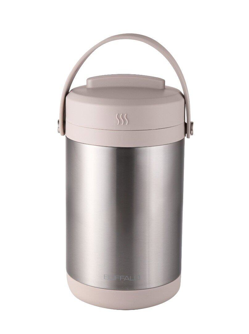 Buffalo Stainless Steel Vacuum Lunch Box/DUAL THERMO FOOD JAR SP118 (NEW) - Keep your meals hot for up to 6 hours
