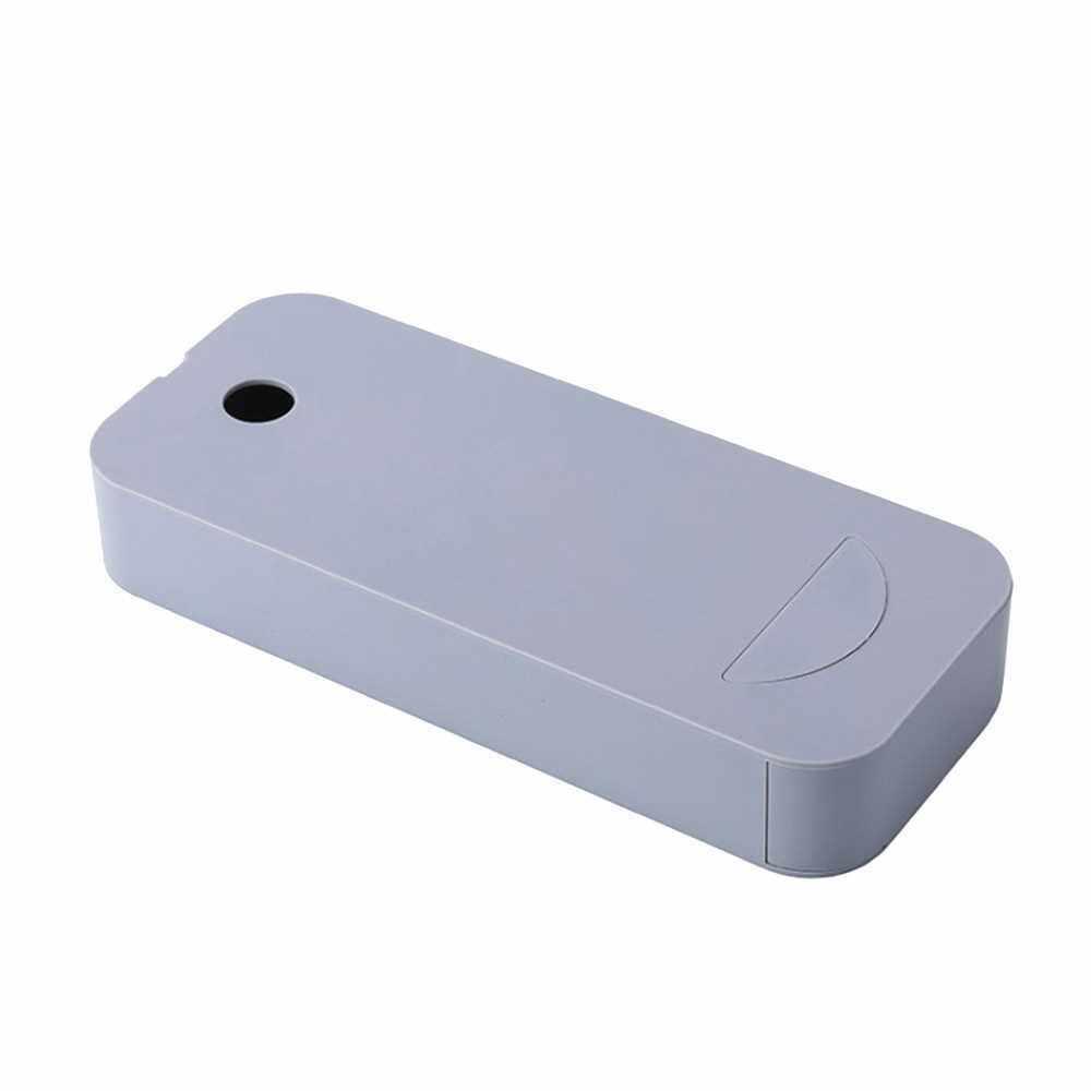 Desktop Drawer Plastic Pencil Case Paste Stationary Organizer Storage Box Table Bottom Pen Holder Large Capacity for Office School Home Desk Gray (Grey)
