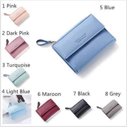 Hot Sale 7 Colors! Women's Short Vertical Coin Purse with Zipper