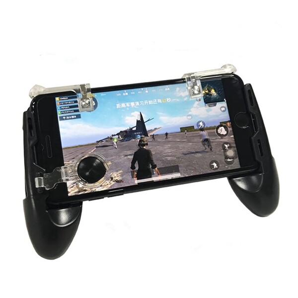 Phone Holder & Stand - 4 in 1 Mobile Phone Gamepad Joystick Gamer Controller Phone Holder For Smart Phone - WHITE / BLACK