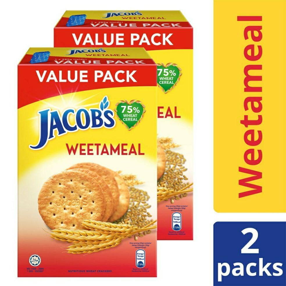 Jacob's Wheat Cereal Weetameal Crackers (289g x 2) [Value Pack]