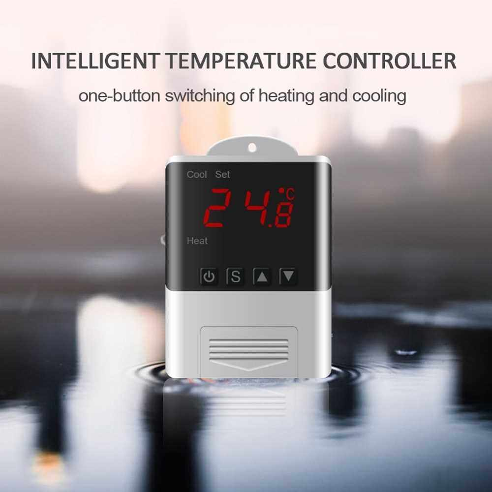 DTC1200 Intellligent Temperature Controller LED Digital Thermostat Thermometer Temperature Sensor Cooling Heating (Standard)