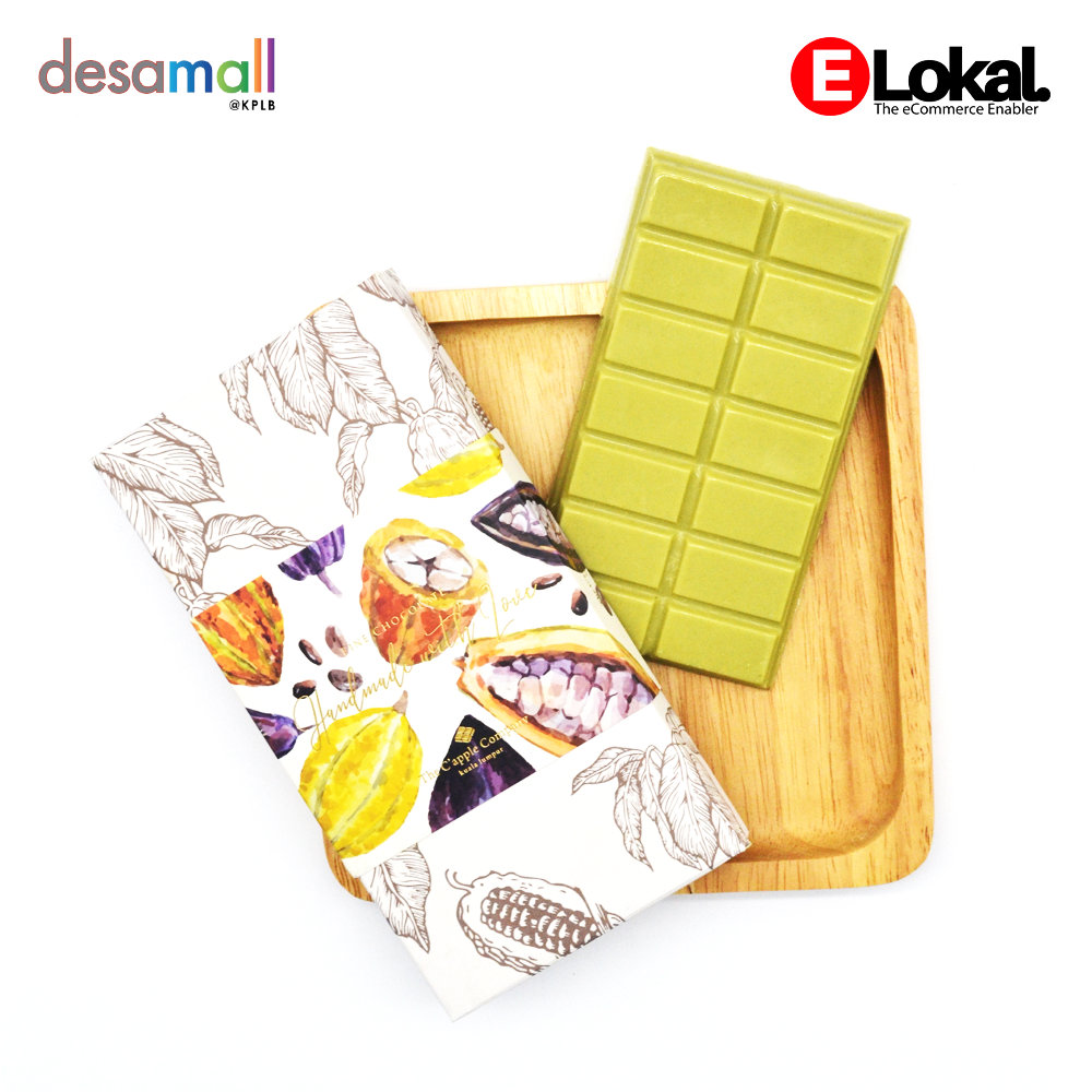 C'APPLE CHOCOLATE White Chocolate - Green Tea (100g)