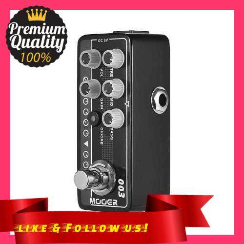 People\'s Choice MOOER MICRO PREAMP Series 003 Power-Zone American-style High Gain Digital Preamp Preamplifier Guitar Effect Pedal True Bypass