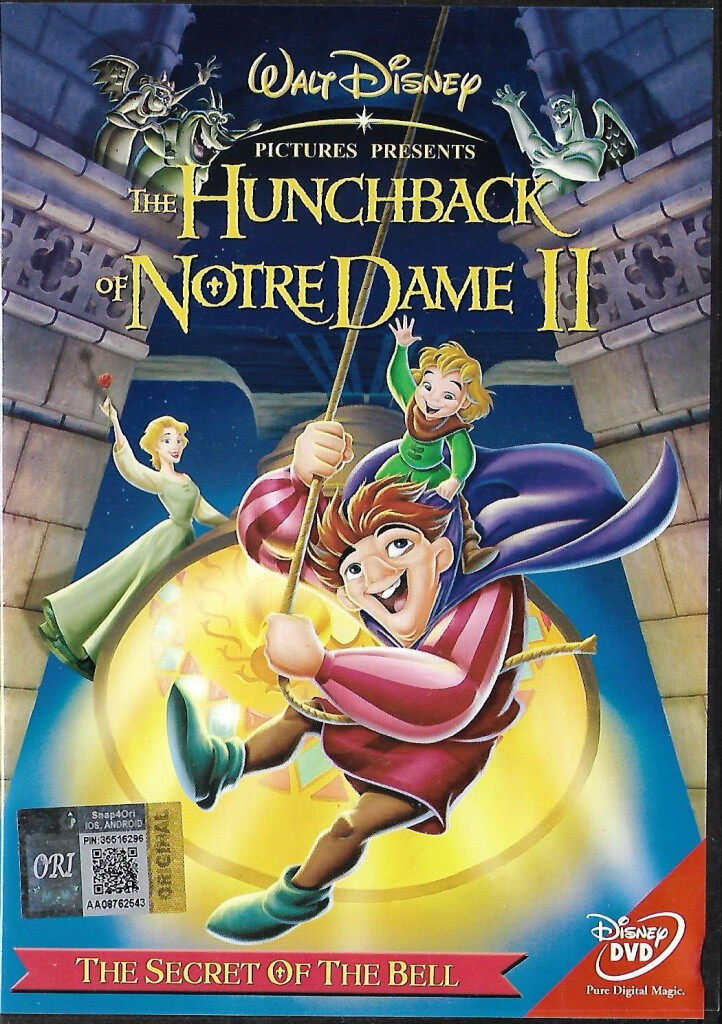 English Animated Walt Disney Movie The Hunchback of Notre Dame II : The Secret of The Bell DVD