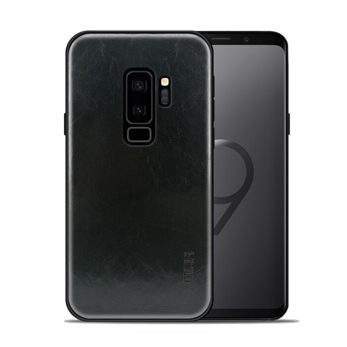 Android Soft Cover - Mofi Leather Texture Soft TPU Protective Case for Samsung Galaxy S9 Plus - RED / LIGHT BROWN / DARK BROWN / BLUE / BLACK