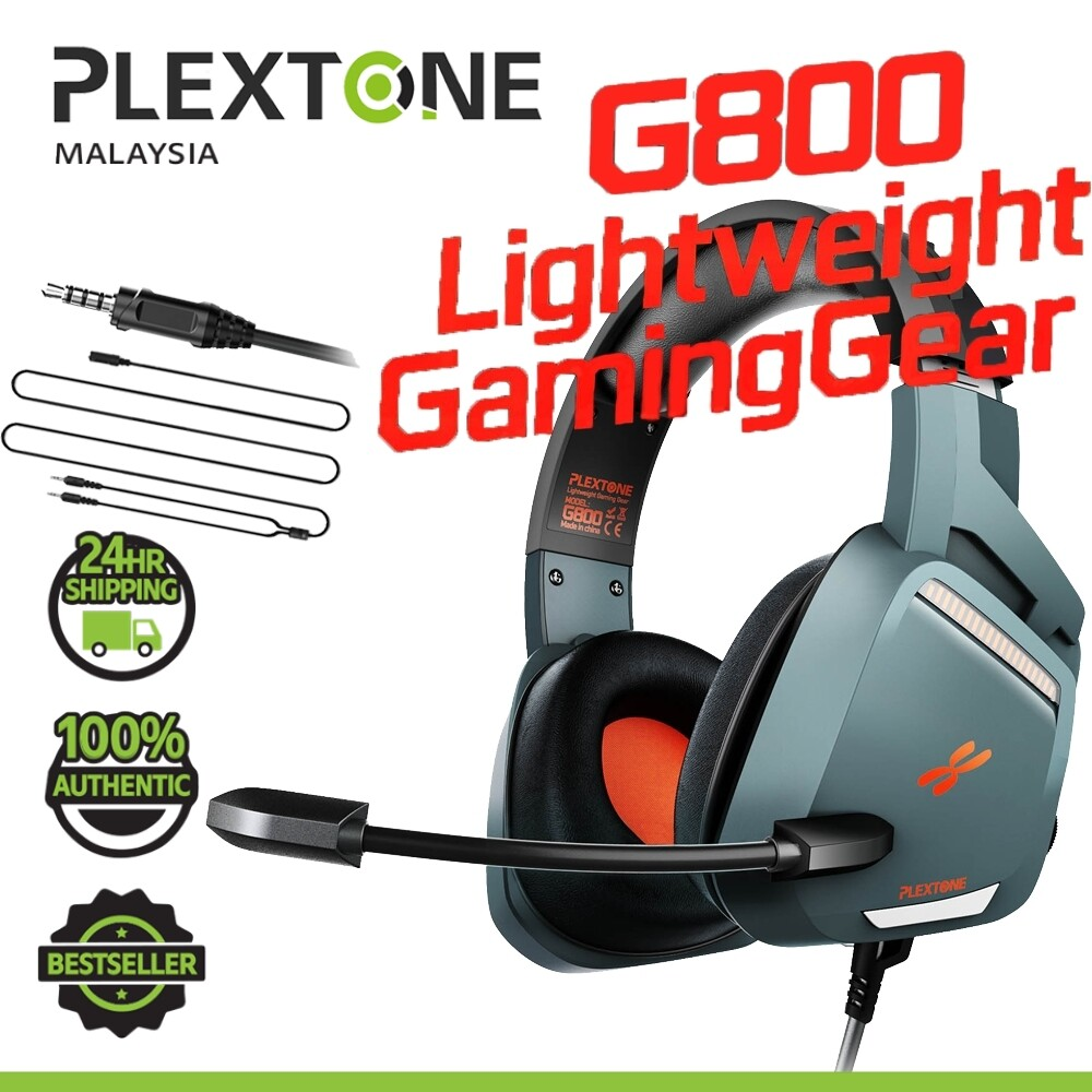 PLEXTONE G800 EXTRA BASS 3.5mm Audio jack Gaming Headphone Earphones Stereo Gamer Headphones with mic Headset with Mic for Mobile PC XBOX PS4 SAMSUNG HUAWEI OPPO VIVO