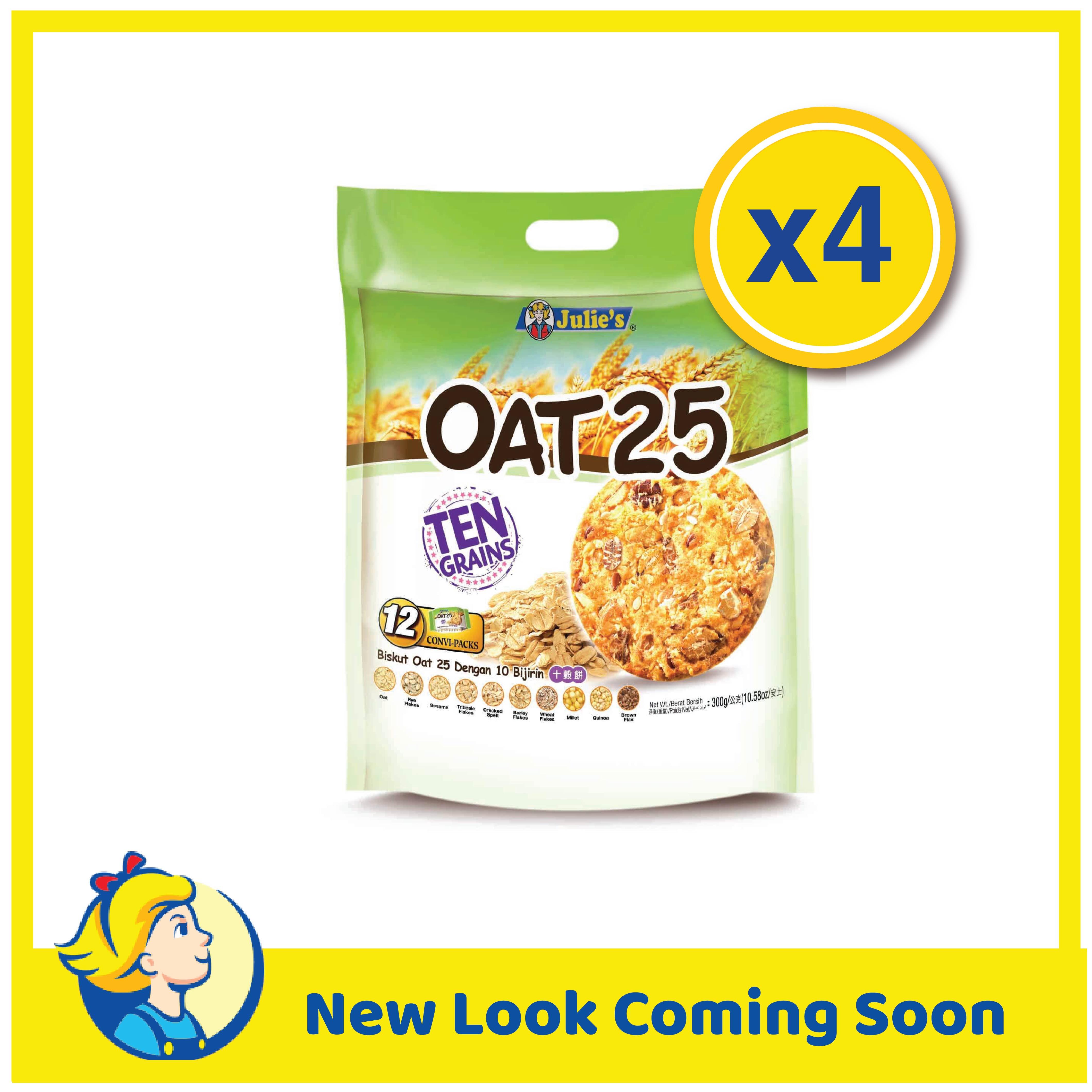 Julies Oat25 Ten Grains 300g x 4 Packs
