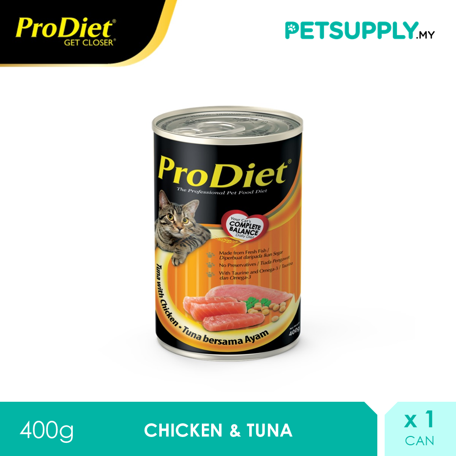ProDiet 400G Chicken & Tuna Wet Cat Food [makanan kucing PETSUPPLY.MY]